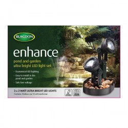 Blagdon LED Pond& Garden Lights 3 x 3w