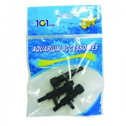 2 Way Plastic Airline Valve Black W/Base (3 pcs)