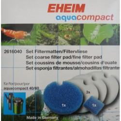 Eheim Filter Pad Set For Aquacompact 40/60