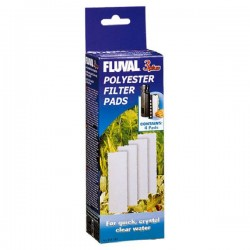 Fluval 3 Plus Polyester Filter Pads x 4