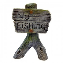 Grey No Fishing Sign Ornament
