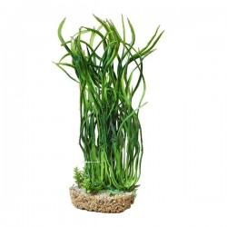"Betta 12"" Green Plant with Sand Base *New*"