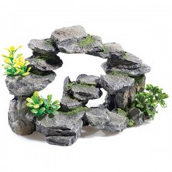 Classic Rocky Arch With Plants