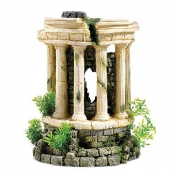 Classic Roman Tower With Plants - Air